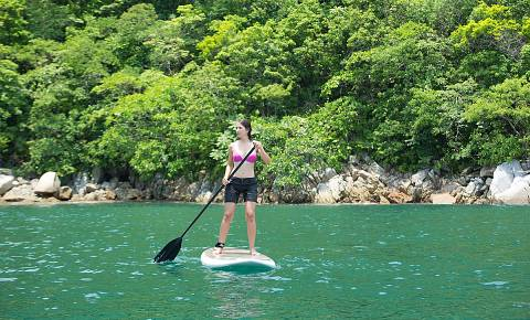 Paddle Boarding Sian Ka'an Village